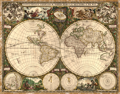 World antique map 2