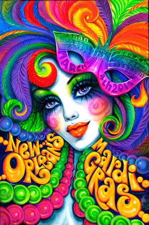 new orleans mardi gras poster gallery by andrea mistretta